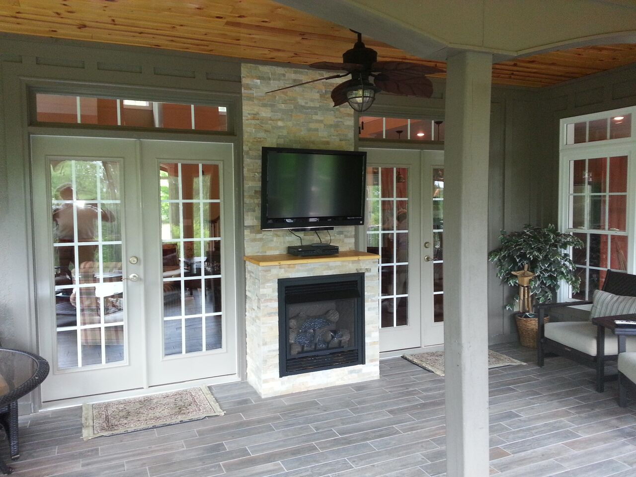 just design painted greige love blog masonry stone stacked fireplace chimney this rock pin fireplaces